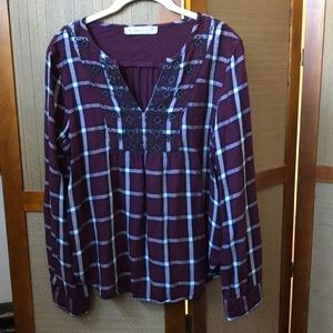 ABERCROMBIE & FITCH BLOUSE TOP SIZE M